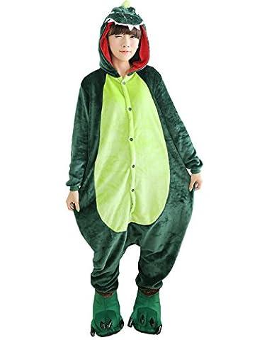 Dinosaur Adulte Costumes Dhalloween - Triseaman Unisexe Adulte Halloween Kigurumi Pyjamas Animal