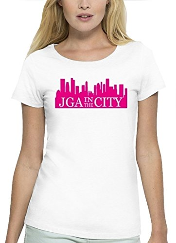 JGA Premium Damen T-Shirt aus Bio Baumwolle JGA 41 - JGA IN THE CITY Stanley Stella White