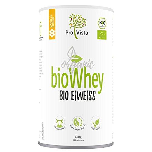 ProVista Bio Whey Protein - organic Molken-Eiweiss - Honig-Vanille Honig-Vanille (Bio-protein-milch)