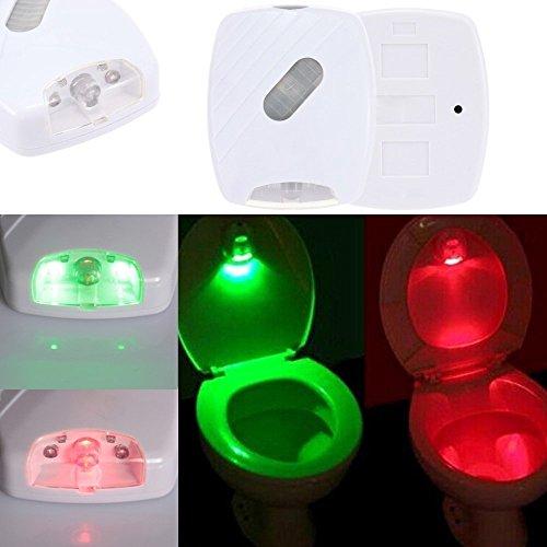 Stoga Motion Sensor LED Toilette Licht, WC Nachtlicht Bewegung aktiviert/Light Sensitive Automatische LED WC Nacht Motion Sensor Badezimmerlampe für jeden WC Batteriebetriebene Nachtlicht