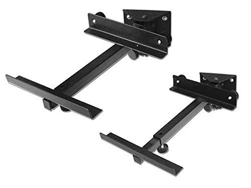 2 piezas (1 par) Altavoces Soporte de pared negro - carga de...