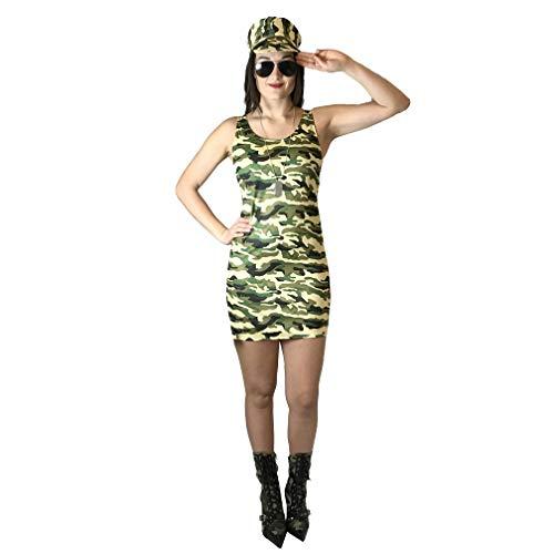 Damen Kommando Soldat Mädchen Kostüm Kostüm Camo Army Outfit Frauen
