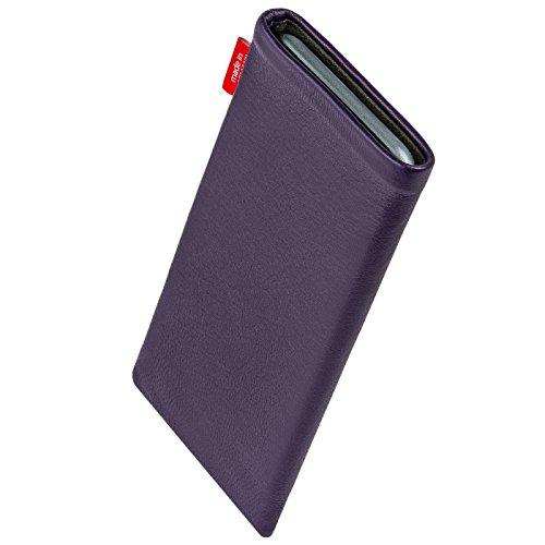 fitBAG Beat Zitronengelb Handytasche Tasche aus Echtleder Nappa mit Microfaserinnenfutter für Apple iPhone 3Gs 32GB 32 GB Beat Lila