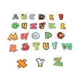 Artibetter 26 Stück Buchstaben Patches Kleidung Aufnäher Bügelbilder Sticker Applikationen für Kinder Jacken Jeans Hosen Rucksäcke Tasche