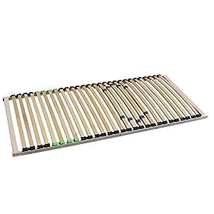 i-flair® – 5 Zonen Lattenrost 140×200 cm, 28 Leisten, mit Härteregelung