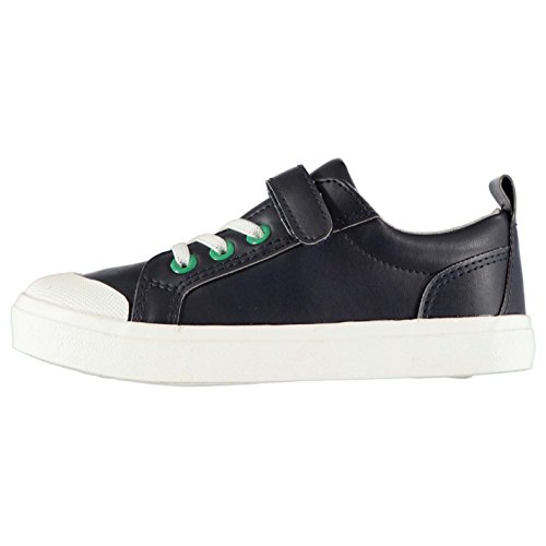 Crafted Kinder Jungen Turnschuhe Sneaker Turnschuhe Schuhe Kontrast Oesen Marineblau