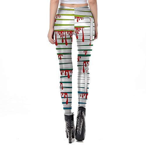 Kostüm Queen Red Plus Größe - Deman outfit-Artistic9 Halloween Leggings Plus größe 3D Mummy Verband drucken Yoga Trainingshose Stretchy Lange Hose weiche knöchellange Strumpfhose Halloween kostüme Cosplay für Frauen Damen