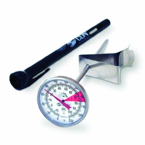 CDN Pro-Accurate Aufschäum- und Getränkethermometer, 14cm, -18bis+104°C