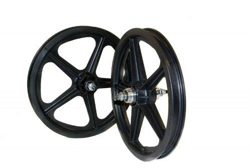 16' Skyway Tuff II BMX Laufradsatz Set / Paar in 2 Farben, Farbe:Schwarz