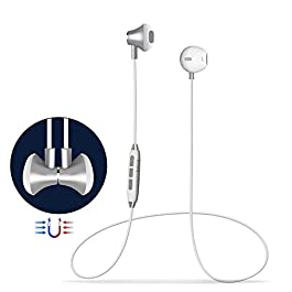 Cuffie Bluetooth Magnetici Sport,Headset Auricolari Bluetooth 4.1 Stereo HiFi con Microfono,Noise Cancelling avanzate…