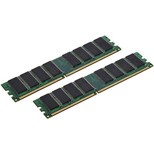 TOOGOO 2X1Gb Pc3200 Nicht-ECC-DDR 400 MHz High Density Memory 184-Poliger Dimm-Ram
