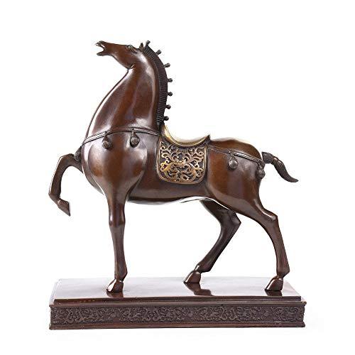 Kriegspferd Statue, Dekorative Skulptur, Bronze Statue, BüRo Dekoration, Handwerk, BüRo Dekoration, Geschenk (15 X 5,5 X 16,5 - Bronze Statue Kostüm