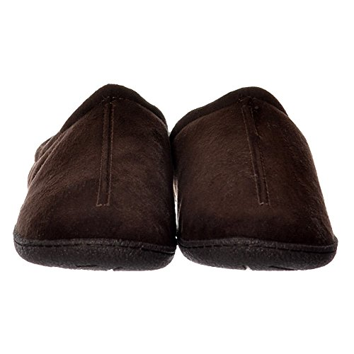 Foderato Di Pelliccia Di Lusso Maschile Onlineshoe Scivolare Su Pantofole Di Mulo Con Duro Da Portare Sole - Marrone, Testa Di Moro Marrone