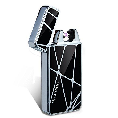 *Kivors® geometrische Elektronisches Feuerzeug tragbar USB aufladbar dopple Lichtbogen tragbar*