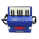 17 tasti 8 fisarmonica a bassi Bambini Fisarmonica giocattolo strumento solista educativo dello strumento musicale Ensemble per la prima infanzia insegnamento Blu