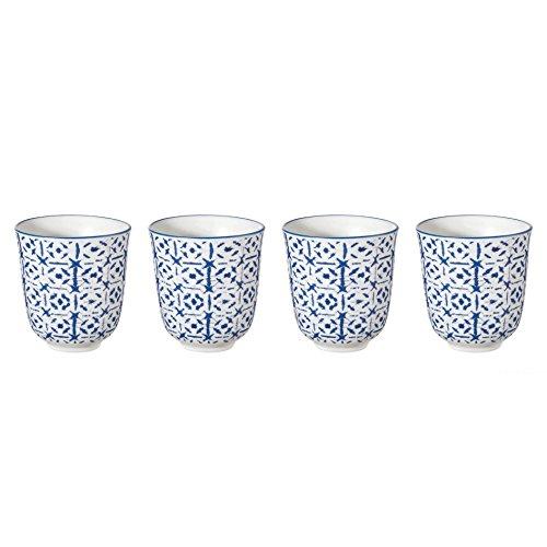 ASA Selection - Indigo - 4er Set - Becher Indigo II -Porzellan - blau/Weiss - Ø 7,5 cm, h.8,2 cm, 0,15l - 4er -Set