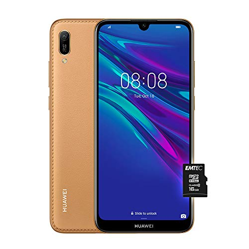Huawei Y6 2019 (Blue) più Microsdhc 16GB Class 10, Telefono con 32 GB, Display 6.09' HD+, Processore Quad Core [Versione Italiana]