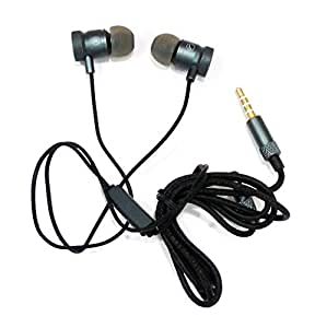 AT Shopping OTD Metal Earphone/Handsfree Compatible For WING M4 - Metallic Grey