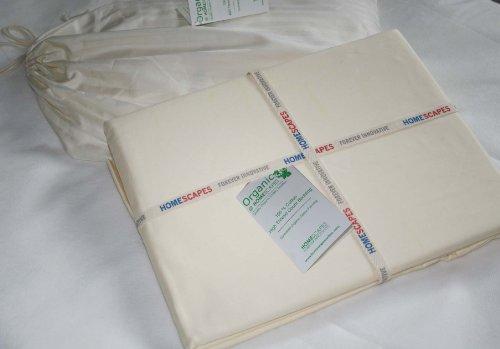 Homescapes Spannbettlaken 180 x 200 cm für extra tiefe Matratzen bis 47 cm aus 100{366b6df9f12d6f378068346ea03f4437f3a55f0c2fa1df25ca40757a8126d31c} Bio Baumwolle mit Fadendichte 400, wunderbar weich, für Allergiker geeignet, uni creme