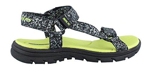 Skechers Supreme Radion Sandals 92218L-BKGY Kinderschuhe, Grau Grau-Grün