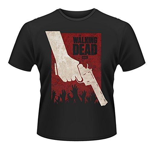 Walking Dead Revolver Poster Negan Daryl Dixon Zombie Official Black Mens Tshirt