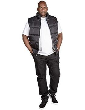 D555 - Chaleco - chaqueta guateada - Sin mangas - para hombre negro negro XXXX-Large
