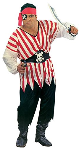 RG 85015 Kost-me Plus Size Pirate Man Vollst-ndige Abbildung (Pirate Kostüm Size Mens Plus)