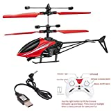 VG Toys & Novelties 2 in 1 Hand Induction Flying Helicopter with Remote Control, USB Charger and Flashing Light (Colour May Vary)