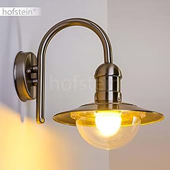 Au en wandbeleuchtung aus edelstahl modernes design in bogenform wandstrahler f r die - Wandbeleuchtung aussen ...