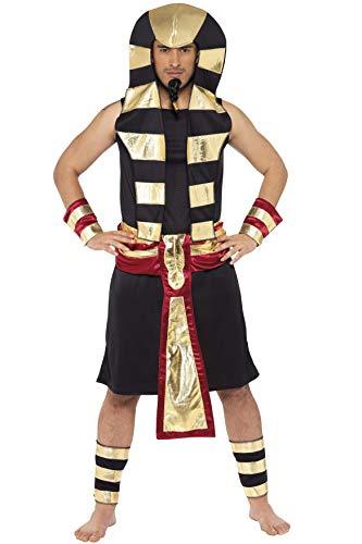 Smiffys Pharao Kostüm Rock Kopfschmuck Gürtel Arm- und Beinmanschetten, ()