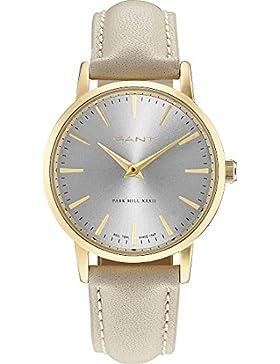GANT Damen-Armbanduhr Analog Quarz One Size, grau, beige