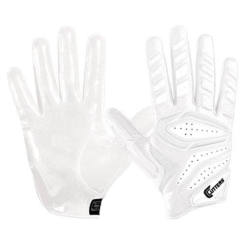 Cutters S651 Gamer 2.0 American Football leicht gepolsterte Handschuhe - weiß Gr. M (Gepolsterte Football Handschuhe)