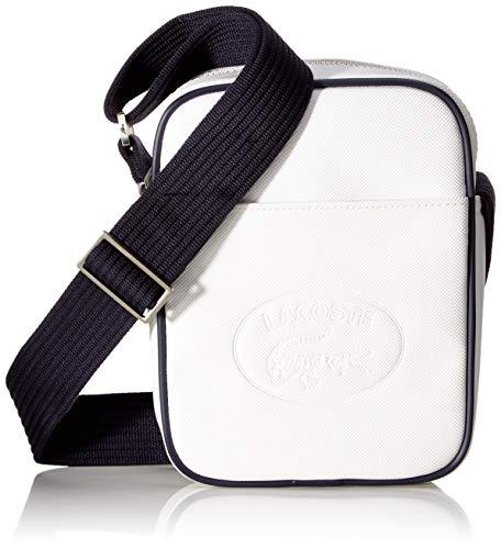 Lacoste - 1930's Original, Shoppers y bolsos de hombro Hombre, Blanco White Peacoat, 5x21x15 cm W...