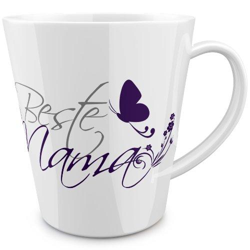 FunTasstic Tasse Beste Mama (geschwungen) konische Tasse Kaffeepott 350 ml by StyloTex