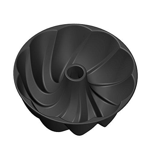 Kaiser Inspiration Design-Gugelhupfform, Ø 25 cm, mit geschwungener Oberflächenstruktur Aluminiumguss, antihaftbeschichtet, gleichmäßige Bräunung