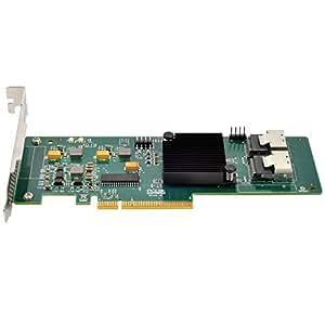 SilverStone SST-ECS02 - Carte PCI-E Express Gen 2.0, x8 ports SAS/SATA (6Gb/s) contrôleur LSISAS2008, support profile bas, RAID 0,1,1E,10