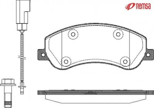 Preisvergleich Produktbild Metzger 1250.02 Bremsbelagsatz, Scheibenbremse