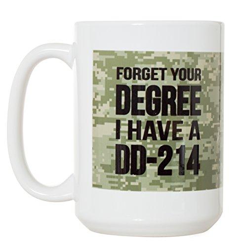 Militär Geschenk zum Ruhestand vergessen, Ihren Grad I Have A dd-214Veteran Geschenk Kaffee-444ml Deluxe Doppelseitig Kaffee Tee Tasse