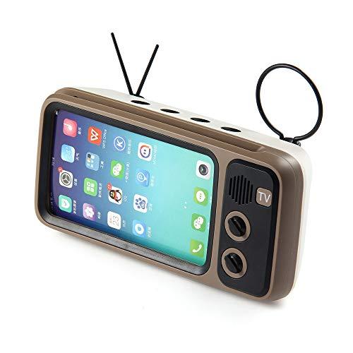 SQY Klassische Bluetooth-Lautsprecher Retro-Mini-TV-Audio-Unterstützung TF-Karte FM-Radio