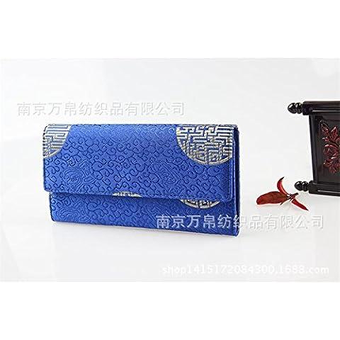 Vintage di seta portamonete brocade wallet 19,5*10cm