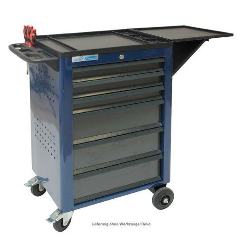ADB Werkstattwagen Basic leer blau mit 7 Schubladen 5x 80 mm · 2x 160 mm