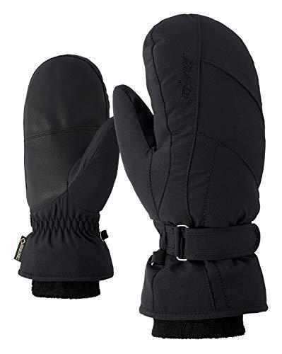 Ziener Damen KARMANI GTX Gore plus warm MITTEN lady glove Ski-handschuhe / Wintersport | wasserdicht, atmungsaktiv, sehr warm, schwarz (black), 8
