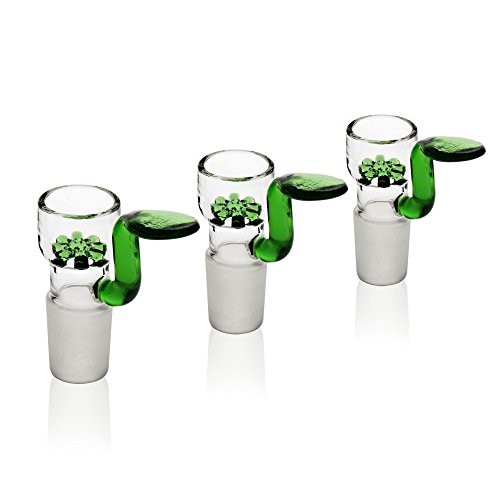 REANICE 3-Pack Flutschkopf Für Glas Bongs Schliff 18.8mm Grün Bong Hut (Schleifer Für Unkraut Und Rohre)