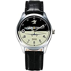 WW-II LUFTWAFFE COMMEMORATIVE HEINKEL HE-111 BOMBER AVIATION ART COLLECTIBLE WRIST WATCH