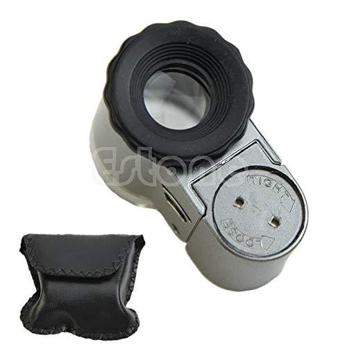 MIUSON Mini 50X Digitale LED-Leuchten Mikroskop-Lupe mit Taschenschmucklupe Neu