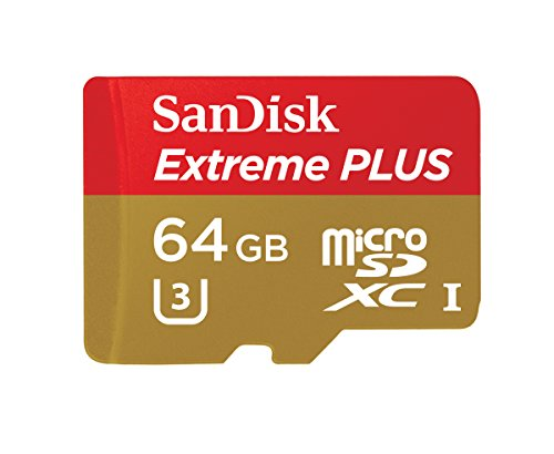 SanDisk Extreme Plus Scheda di Memoria MicroSDXC da 64 GB, fino a 95 MB/sec, Classe 10, U3
