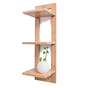 Estante de almacenamiento Bamboo Wall Shelves Bookshelf Decoración para el hogar Display Storage Rack CD Racks Small…