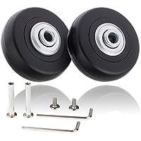 Par de ruedas de recambio de 50 x 18mm para maleta de equipaje con juego de reparación, de Alisa