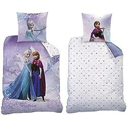 Franela/franela reversible cama de la Reina de Hielo, 135x 200cm 80x 80cm, 100% algodón, Frozen Rosa 044942