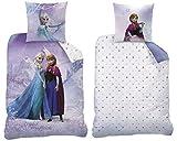 Familando Biber/Flanell Wende Bettwäsche Die Eiskönigin, 135 x 200 cm 80 x 80 cm, 100% Baumwolle, Frozen Pink 045031